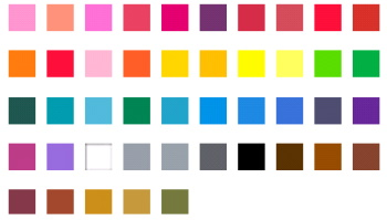 Bruynzeel Holland Set 45 colour chart