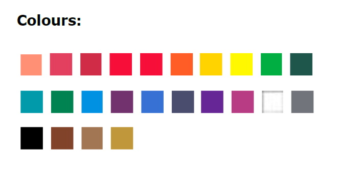 60112003-цвета в наборе