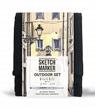 Набор маркеров SKETCHMARKER 'Outdoor' 12 штук в сумке-органайзере